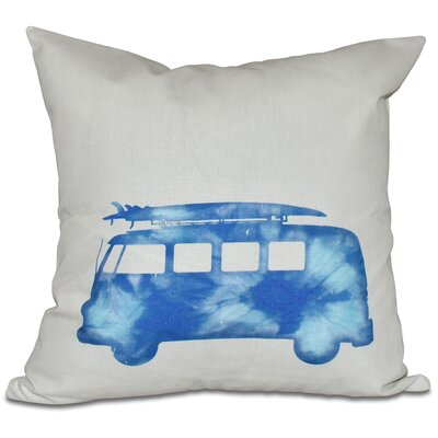 Golden Beach Beach Drive Geometric Outdoor Throw Pillow Color: Blue, Size: 20 H x 20 W