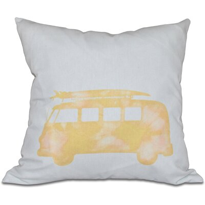 Golden Beach Beach Drive Geometric Outdoor Throw Pillow Size: 18 H x 18 W, Color: Yellow