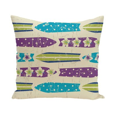 Golden Beach Dean Geometric Throw Pillow Color: Purple, Size: 18 H x 18 W