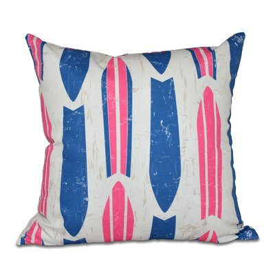Golden Beach Dean Geometric Throw Pillow Size: 26 H x 26 W, Color: Pink