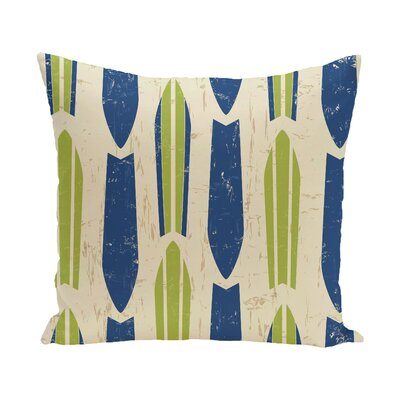 Golden Beach Dean Geometric Throw Pillow Size: 18 H x 18 W, Color: Light Green