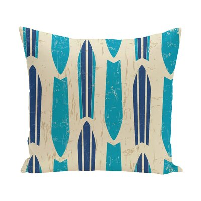 Golden Beach Dean Geometric Throw Pillow Size: 18 H x 18 W, Color: Turquoise