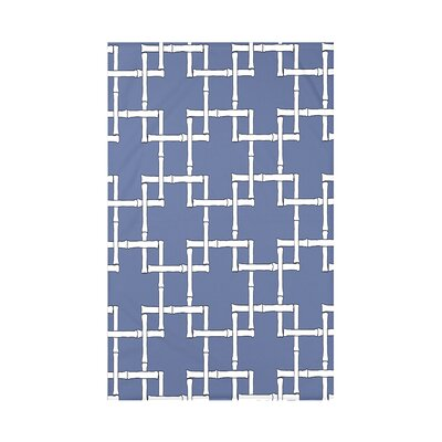 Connelly Bamboo 1 Geometric Fleece Throw Blanket Size: 60 L x 50 W x 0.5 D, Color: Blue