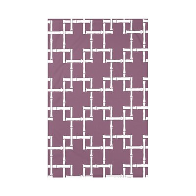 Connelly Bamboo 1 Geometric Fleece Throw Blanket Size: 60 L x 50 W x 0.5 D, Color: Purple