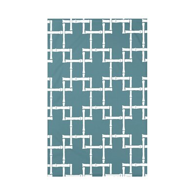 Connelly Bamboo 1 Geometric Fleece Throw Blanket Size: 60 L x 50 W x 0.5 D, Color: Teal