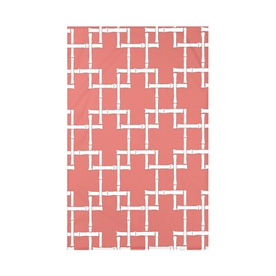 Connelly Bamboo 1 Geometric Fleece Throw Blanket Size: 60 L x 50 W x 0.5 D, Color: Coral