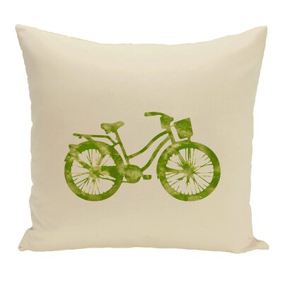 Golden Beach Life Cycle Geometric Throw Pillow Size: 20