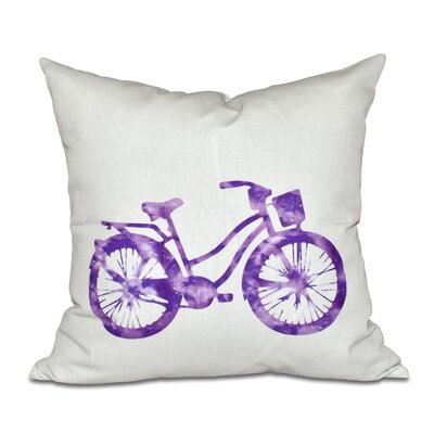 Golden Beach Life Cycle Geometric Throw Pillow Size: 26