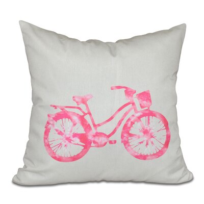 Golden Beach Life Cycle Geometric Throw Pillow Size: 16 H x 16 W, Color: Pink