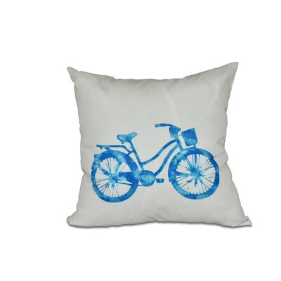 Golden Beach Life Cycle Geometric Throw Pillow Color: Turquoise, Size: 18 H x 18 W