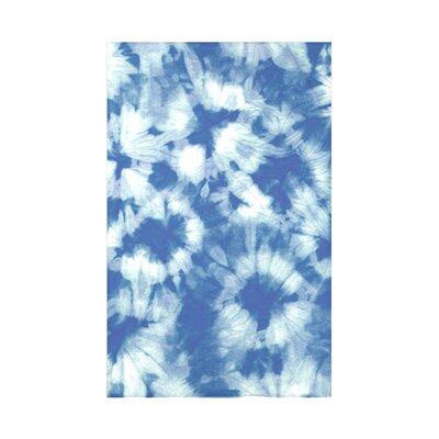 Golden Beach Chillax Geometric Throw Blanket Size: 60 L x 50 W x 0.5 D, Color: Blue