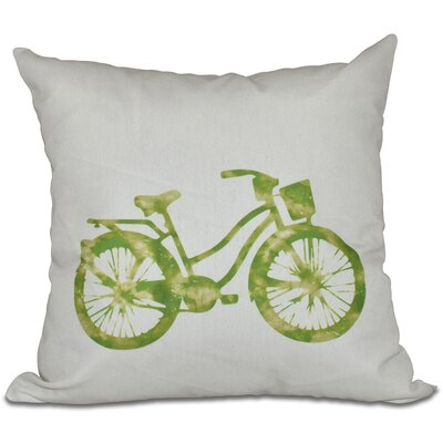 Golden Beach Life Cycle Geometric Outdoor Throw Pillow Size: 20 H x 20 W, Color: Light Green