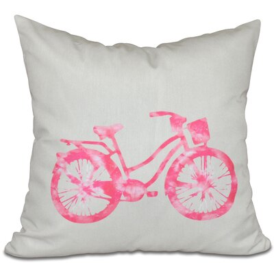 Golden Beach Life Cycle Outdoor Throw Pillow Size: 20 H x 20 W, Color: Pink