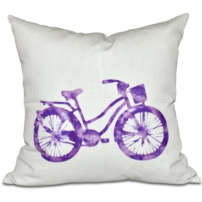 Golden Beach Life Cycle Outdoor Throw Pillow Size: 18 H x 18 W, Color: Purple