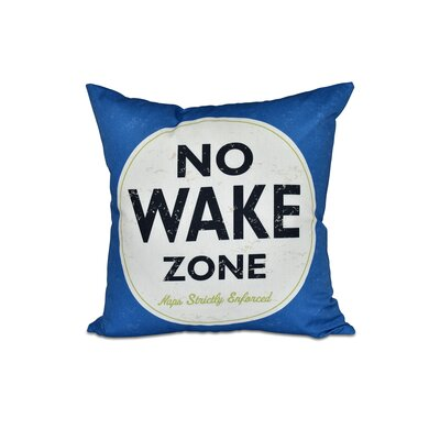 Golden Beach Nap Zone Word Outdoor Throw Pillow Size: 18 H x 18 W, Color: Blue