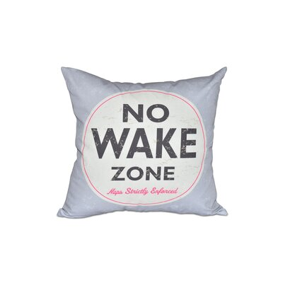 Golden Beach Nap Zone Word Outdoor Throw Pillow Size: 18 H x 18 W, Color: Gray