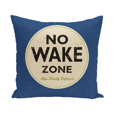 Golden Beach Nap Zone Word Throw Pillow Size: 18 H x 18 W, Color: Blue