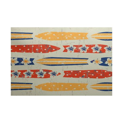 Golden Beach Indoor/Outdoor Area Rug Rug Size: 4 x 6