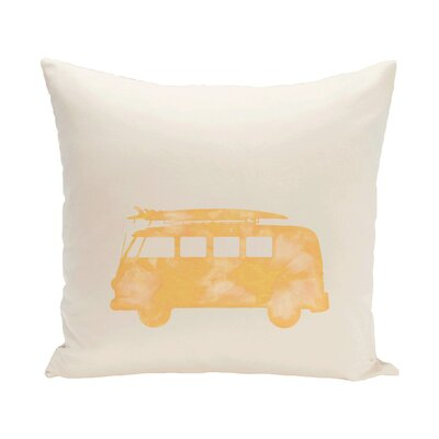 Golden Beach Beach Drive Geometric Throw Pillow Size: 18 H x 18 W, Color: Yellow
