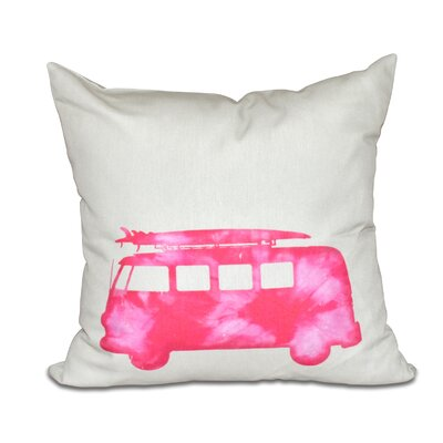Golden Beach Beach Drive Geometric Throw Pillow Size: 18 H x 18 W, Color: Pink