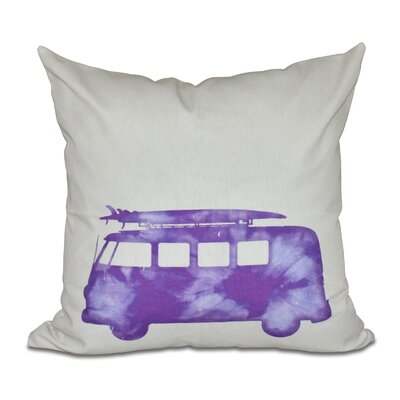 Golden Beach Beach Drive Geometric Throw Pillow Color: Purple, Size: 18 H x 18 W