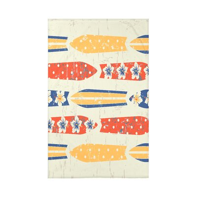 Golden Beach Jan Geometric Throw Blanket Size: 60 L x 50 W x 0.5 D