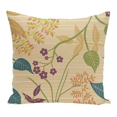 Connelly Botanical Floral Throw Pillow Size: 26 H x 26 W, Color: Gold