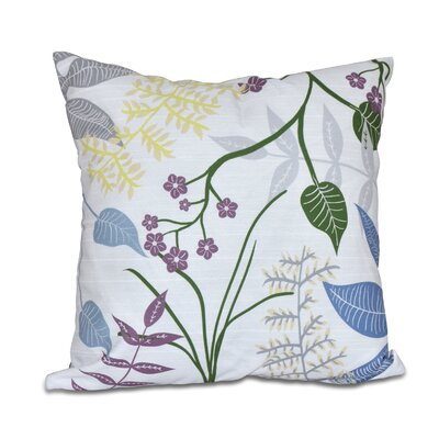 Connelly Botanical Throw Pillow Size: 16 H x 16 W, Color: Gray