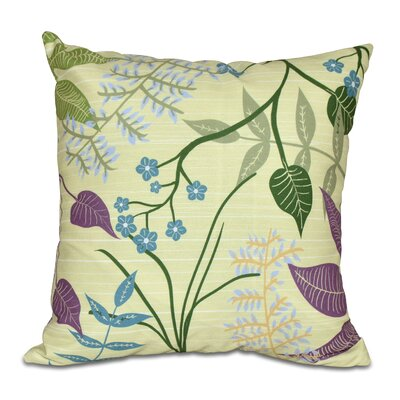 Connelly Botanical Throw Pillow Size: 26 H x 26 W, Color: Green
