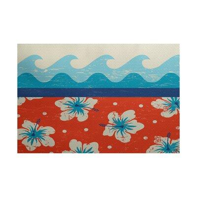 Golden Beach Indoor/Outdoor Area Rug Rug Size: 5 x 7