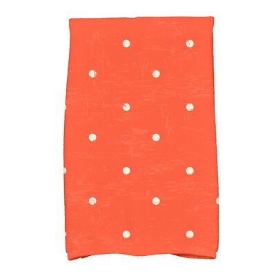 Golden Beach Dorothy Dot Print Hand Towel Color: Orange