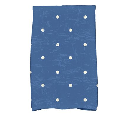 Golden Beach Dorothy Dot Print Hand Towel Color: Blue