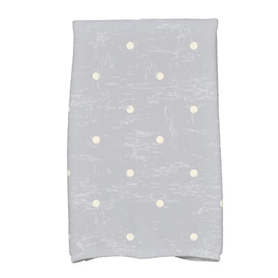 Golden Beach Dorothy Dot Print Hand Towel Color: Gray
