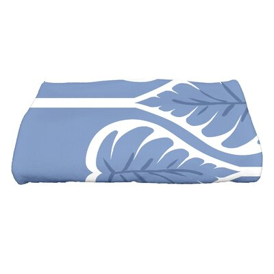 Sigsbee Fern 1 Floral Print Bath Towel Color: Blue
