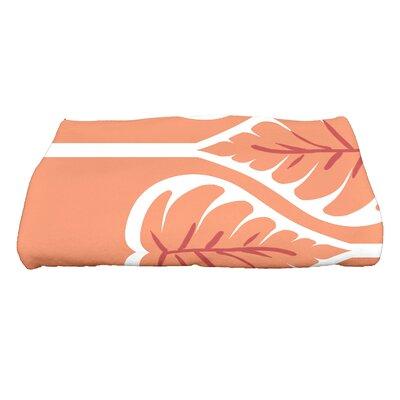 Sigsbee Fern 1 Floral Print Bath Towel Color: Coral