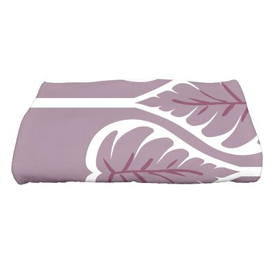 Sigsbee Fern 1 Floral Print Bath Towel Color: Lavender