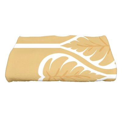 Sigsbee Fern 1 Floral Print Bath Towel Color: Gold
