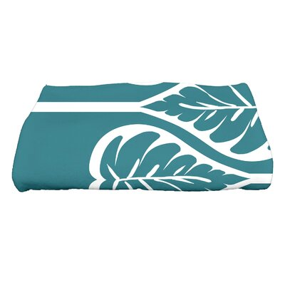 Sigsbee Fern 2 Floral Print Bath Towel Color: Teal