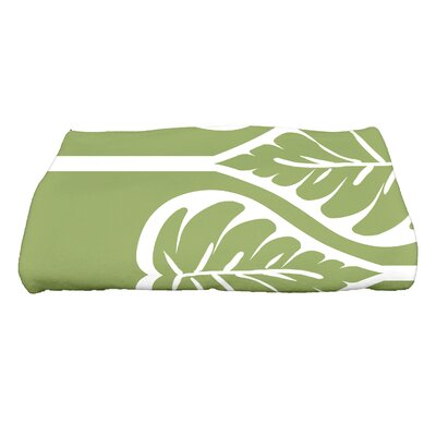 Sigsbee Fern 2 Floral Print Bath Towel Color: Green