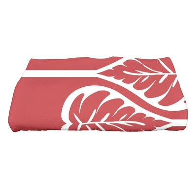 Sigsbee Fern 2 Floral Print Bath Towel Color: Coral