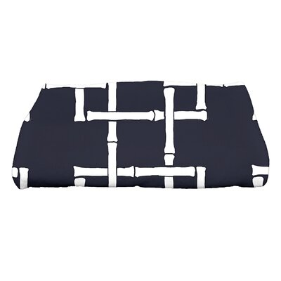 Sigsbee Bamboo Print 1 Geometric Print Bath Towel Color: Navy Blue