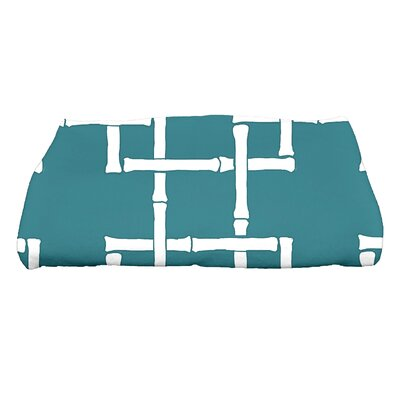 Sigsbee Bamboo Print 1 Geometric Print Bath Towel Color: Teal