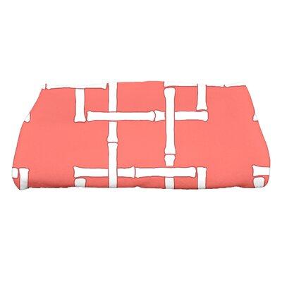 Sigsbee Bamboo Print 1 Geometric Print Bath Towel Color: Coral