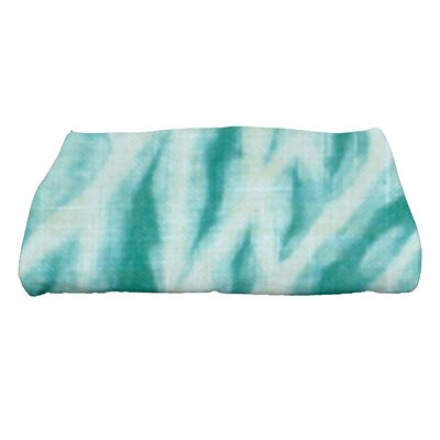 Grand Ridge Shibori Geometric Print Bath Towel Color: Teal