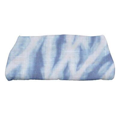 Grand Ridge Shibori Geometric Print Bath Towel Color: Blue