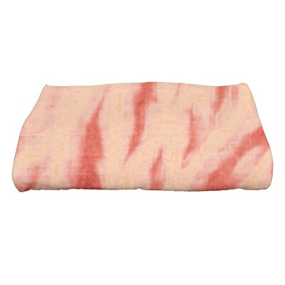 Grand Ridge Shibori Geometric Print Bath Towel Color: Coral