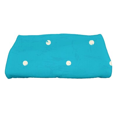 Golden Beach Dorothy Polka-dots Print Bath Towel Color: Turquoise