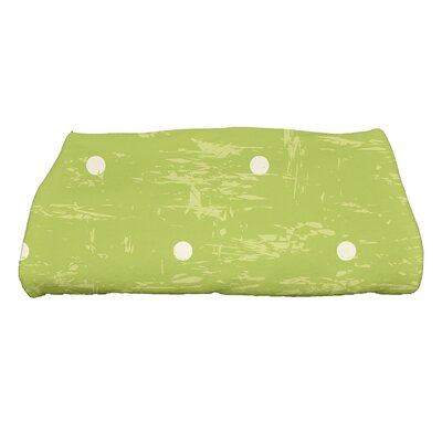 Golden Beach Dorothy Polka-dots Print Bath Towel Color: Light Green
