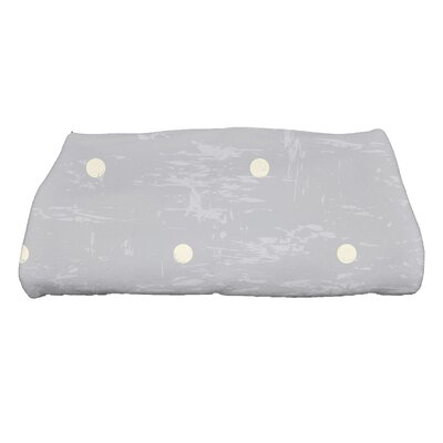 Golden Beach Dorothy Polka-dots Print Bath Towel Color: Gray