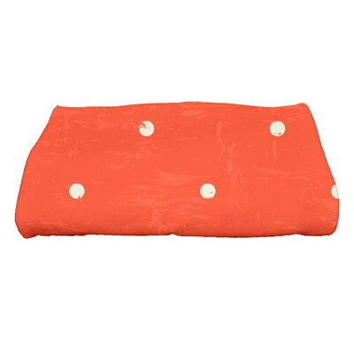Golden Beach Dorothy Polka-dots Print Bath Towel Color: Orange